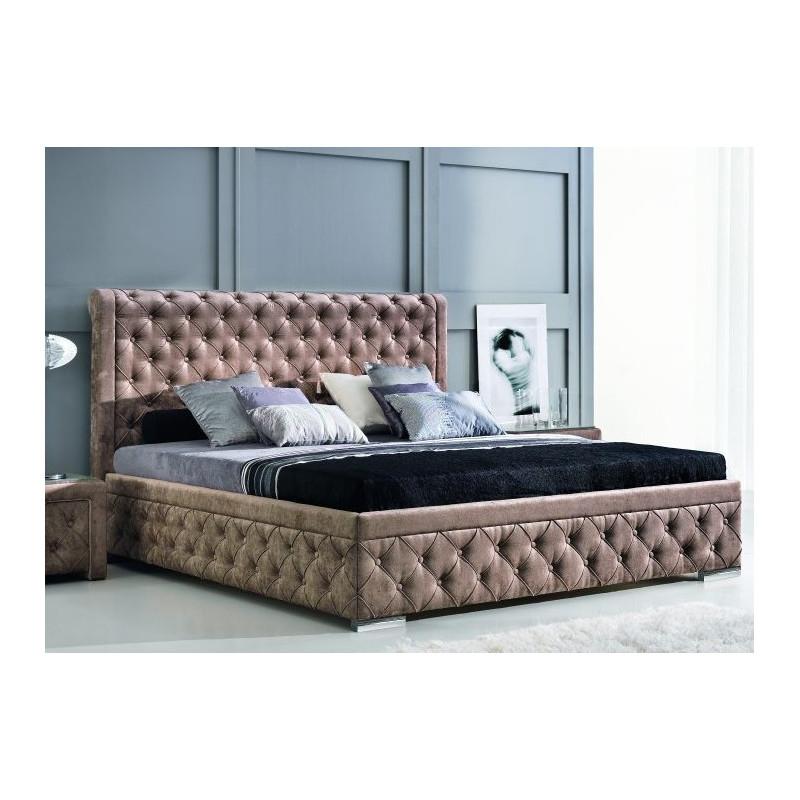 Designerskie łoże tapicerowane Roma polskiej firmy New Elegance